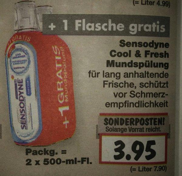 [Kaufland] GZG Sensodyne Mundspülung 500ml + 500 ml gratis + 1€ über Scondoo
