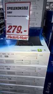 LOKAL Mediamarkt Velbert Playstation 4 CUH-1216A 500GB in Schwarz 279€