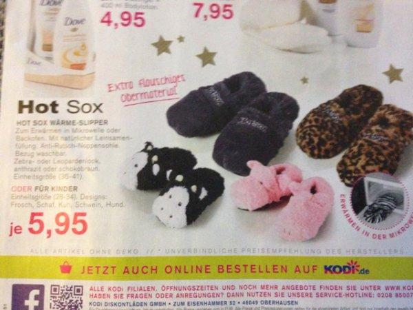 Hot Sox Pantoffeln bei Kodi für 5,95 Euro