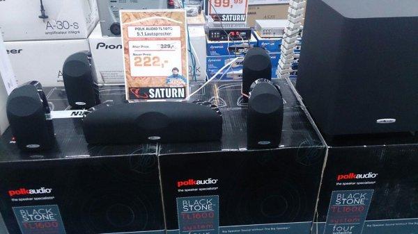 POLK AUDIO TL1600, 5.1 Heimkino-System 5.1 SATURN MyZeil FRANKFURT 222,-