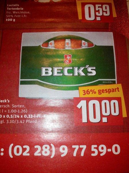 (Rewe Center ) Becks Bier Kasten 10,00€