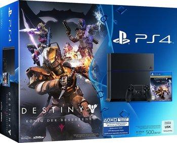 Sony PlayStation 4 (Neue Version) + Destiny: König der Besessenen oder Sony PlayStation 4 (Neue Version) + Disney Infinity 3.0: Starter Pack für 294€ bei Saturn