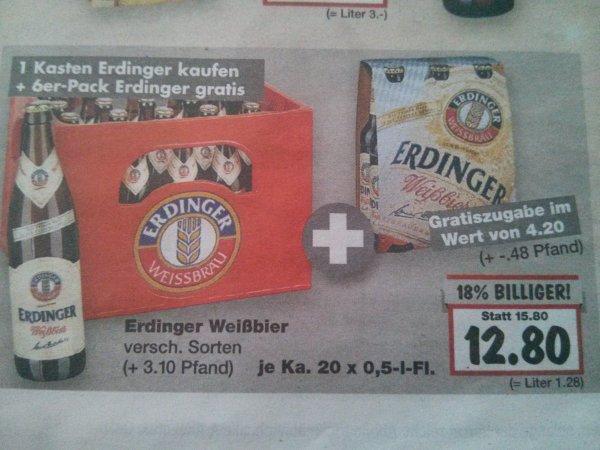 [Kaufland] [lokal] Erdinger Weißbier rechnerisch 9,85€ pro Kiste 20Fl. a 0,5l