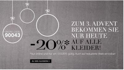 [Preisfehler] 20€ Rabatt auf Kleider