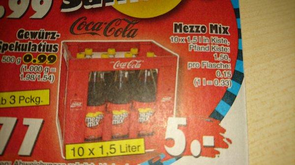 [JAWOLL] Kiste Mezzo Mix (12 x 1,5 Liter Mehrweg) für 5,00 Euro zzgl. Pfand