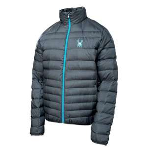 Spyder Herren Daunenjacke Winterjacke Dolomite Electric Blue Größe L @ Amazon Crime