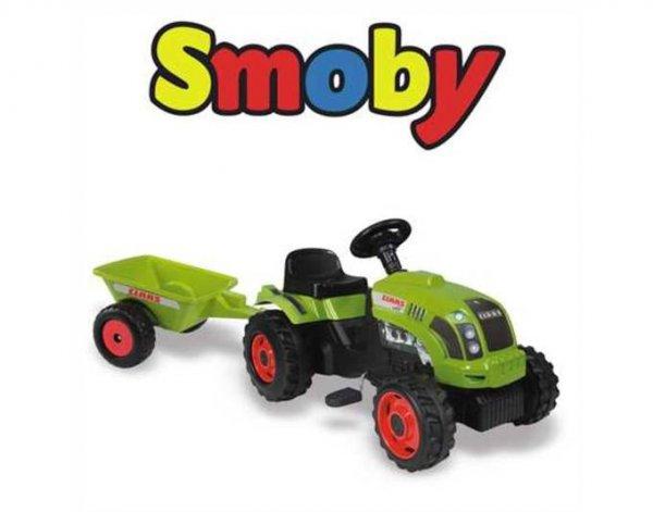 [D-Edition]  Smoby Kindertraktor CLAAS mit Anhänger ab 3 Jahre