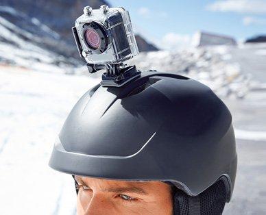 ALDI Süd 14.12.2015 Action Cam (billige Alternative zu GoPro Hero) + Unterwassergehäuse + Zubehör. MAGINON® Action Cam AC–800W.