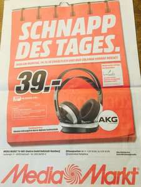 [MM Bamberg] AKG K 915 Over Ear Funk-Kopfhörer - 39,-