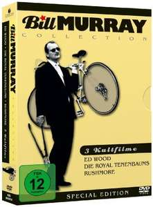 Bill Murray Collection (Ed Wood / Die Royal Tenenbaums / Rushmore) [3 DVDs] @Amazon