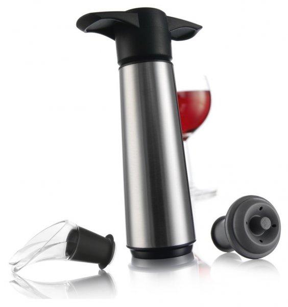 Vacu Vin Weinpumpe mit 2 x Stopfen und 2 x Weinausgießern - Edelstahl für 11,60 € @ amazon Prime