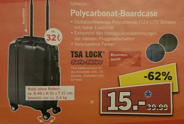 [Lidl 30519 Hannover] Topmove Polycarbonat Boardcase mit TSA Lock am Fr. 18.12. für 15,00€