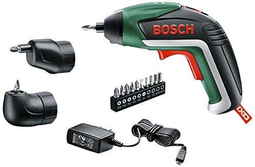 Bosch Home and Garden Akku-Schrauber IXO Set 5. Generation, Winkelaufsatz, Exzenteraufsatz, 10 Schrauberbits, USB-Ladegerät, Metalldose (3,6 V, 1,5 Ah) @Amazon.fr
