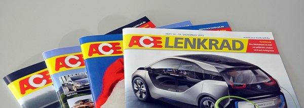 ACE Lenkrad kostenloses Probeheft