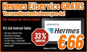 [Notebooksbilliger.de] MP Man MPQC1030 Tablet, 10,1'' Multitouch, Quad-Core, Mini-HDMI, 1GB RAM, 16GB Flash, Android 4.4