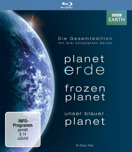 [Amazon.de Prime] Planet Erde + Frozen Planet + Unser Blauer Planet auf Blu-Ray (8 Disc) für 27,97 €