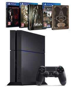 PS4 500 GB + Assassin's Creed : Syndicate + Fallout 4 + Metal Gear Solid V : the Phantom Pain + 2 Steelbook