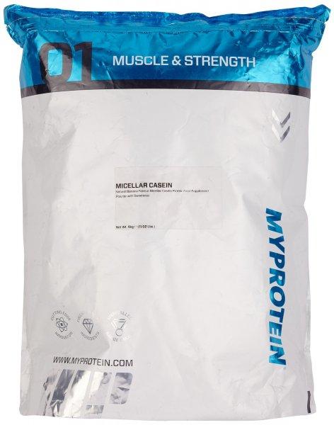 [Amazon.de-Prime] Myprotein Micellar Casein Natural Strawberry oder Natural Banana, 1er Pack (1 x 5 kg)
