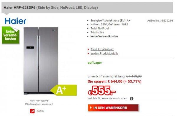 [Redcoon] Haier HRF-628DF6 - Side by Side - EEK: A+ - 380/199 Liter inkl. VERSAND für 555,00€ ------ ist leider vorbei