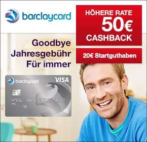 [Qipu] Barclaycard New Visa mit 50€ Cashback + 20€ Startguthaben