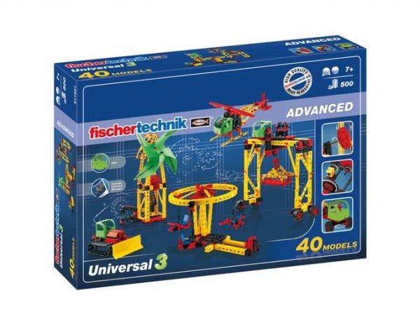 [Spielediskont] Fischertechnik 511931 - ADVANCED Universal 3 Konstruktionsbaukasten