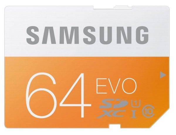 Samsung Speicherkarte SDXC 64GB GB EVO UHS-I Grade 1 Class 10 (bis zu 48MB/s) für 18,90 € > [allyouneed.com] > Vsk frei