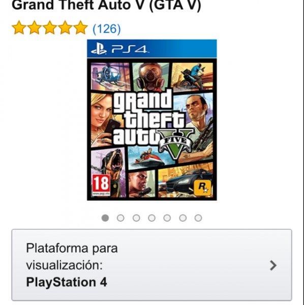 Grand Theft Auto V (GTA V) für ps4 [Amazon.es] für 43,12€ inkl. Versand