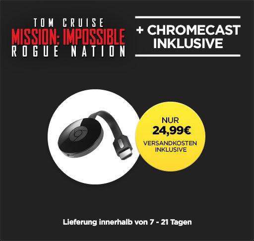 [WUAKI.tv] Google Chromecast 2 + Mission Impossible Rogue Nation als Stream für 24,99€