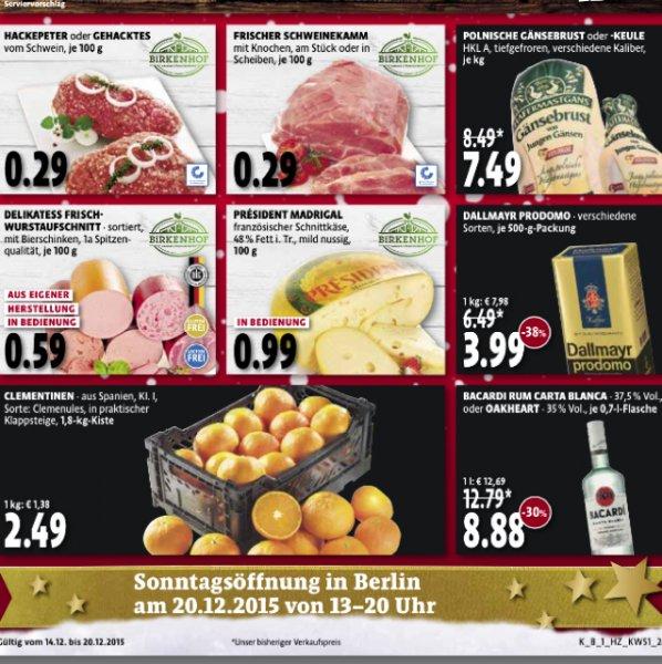Bacardi Rum bei Kaisers Berlin 8,88€