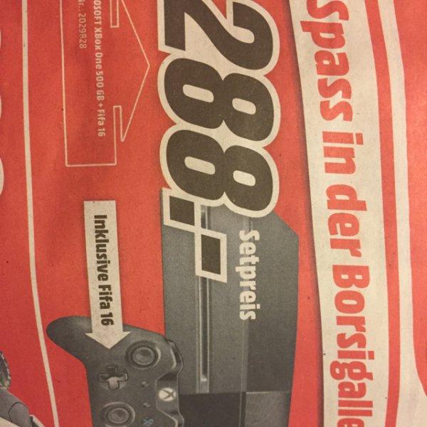 [lokal MediaMarkt Frankfurt-Borsigallee] Microsoft XBox One 500GB inkl. FIFA 16