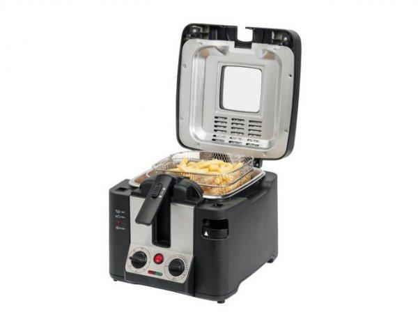 MEDION® Fritteuse MD 15630, 2800 Watt, Öltank ca. 2,2 Liter, Temperaturkontrolle 130-190°C, Edelstahlfrittierkorb für 27,95 € @ Allyouneed (Medion)