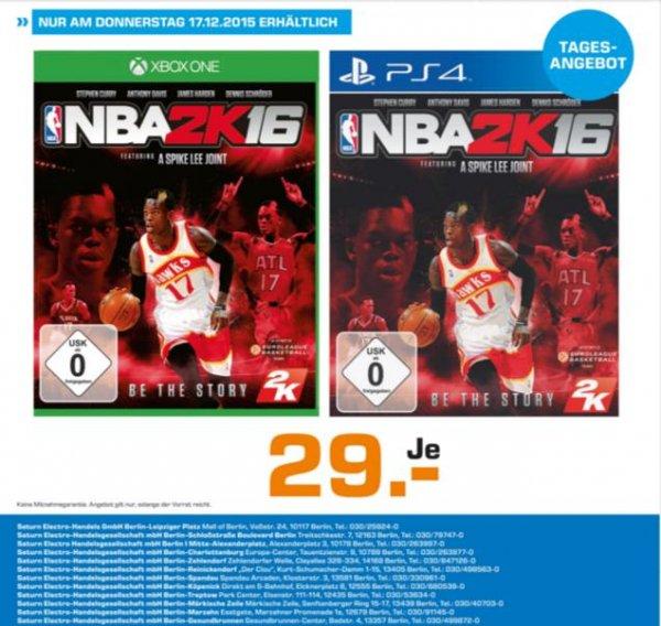"""[LOCAL] @Saturn Berlin NBA2K16 für PS4 oder XBOX """"NUR HEUTE"""" 17.12."""