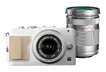 Olympus Pen E-PL5 inkl. 14-42 mm & 40-150 mm Objektiv + Tasche + 8GB SD-Karte für 319€ bei DealClub