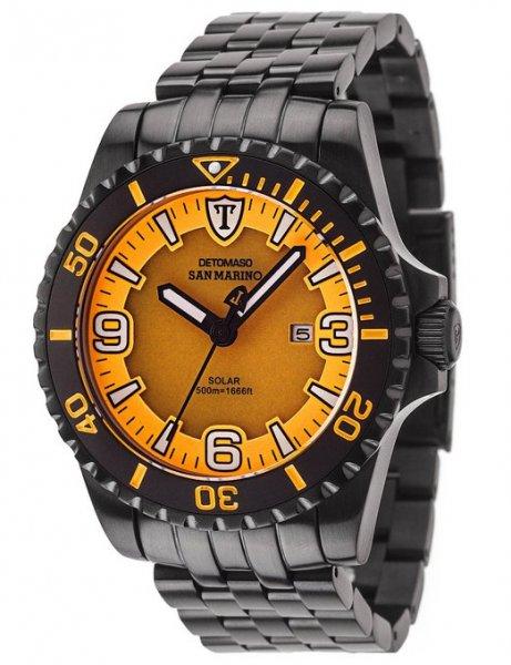 DETOMASO Herrenuhr Taucheruhr orange/schwarz für 109,19