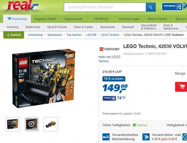 [real] Lego Radlader 42030 -> Midnight-Shopping versandkostenfrei