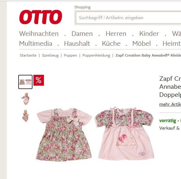 [otto.de] Zapf Creation Baby Annabell® Puppen Kleider-Set im Doppelpack