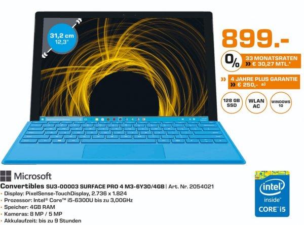 (Lokal) Microsoft Surface Pro 4 i5 128GB für 899€ @ Saturn Bochum