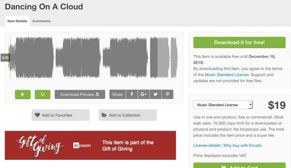 """AudioJungle - Pop Music Track """"Dancing on a Cloud"""" für die Verwendung in eigenen oder Kundenprojekten  - envato"""