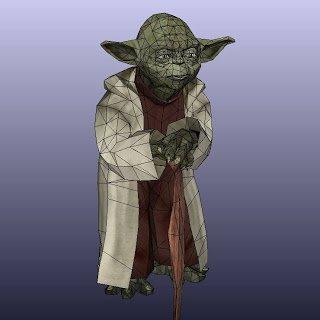 (Star Wars) Lebensgroßer Yoda zum Ausdrucken und selber basteln