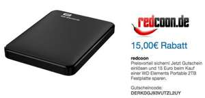 [redcoon & PayPal] Western Digital Elements Portable 2TB