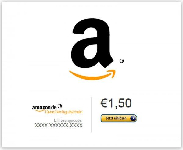 1,50 € Amazon Gutscheincode für 1 €