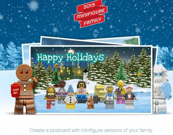 Gestalte deine eigene Lego Weihnachtspostkarte mit Minifigures