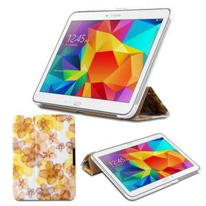 50% off, Samsung GALAXY Tab 4 10.1 Wi-Fi LTE SM-T530N SM-T535N Smart Cover in Flower Power