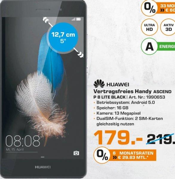 [LOKAL] Saturn-Bielefeld Huawei P8 lite [LTE, 5 Zoll IPS-HD-Display, 1.2Ghz OctaCore-CPU, 16GB Speicher, 13MP Kamera für 179€
