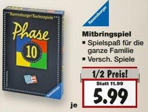 [KAUFLAND MÜNCHEN] KW52: Phase 10 Kartenspiel von Ravensburger für 5,99€