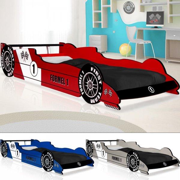 Ebay[WoW]Autobett Kinderbett Formel 1 drei Farben 90x200cm VKF