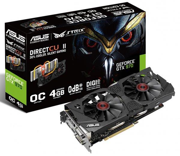 ASUS STRIX Geforce GTX970-OC-4GD5 ( effektiv 293,12€ )