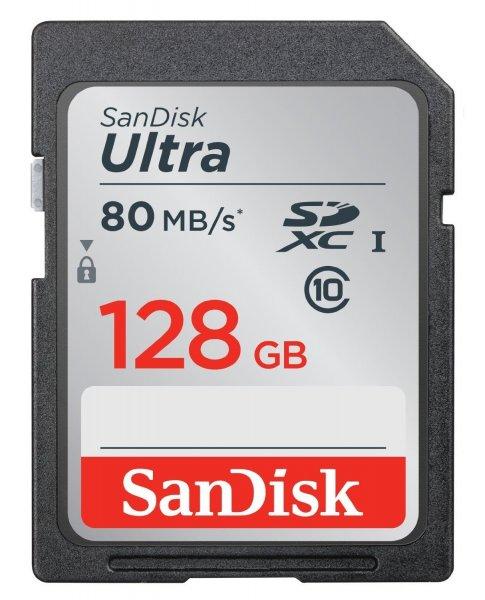 Sandisk Ultra SDXC Class 10 UHS I 128GB (bis zu 80 MB/Sek) für 45€ bei Amazon.de