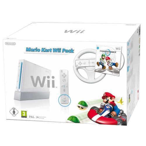 "Nintendo Wii ""Mario Kart Pack"" - Konsole inkl. Mario Kart, Wii Wheel, Remote Plus Controller, weiß"