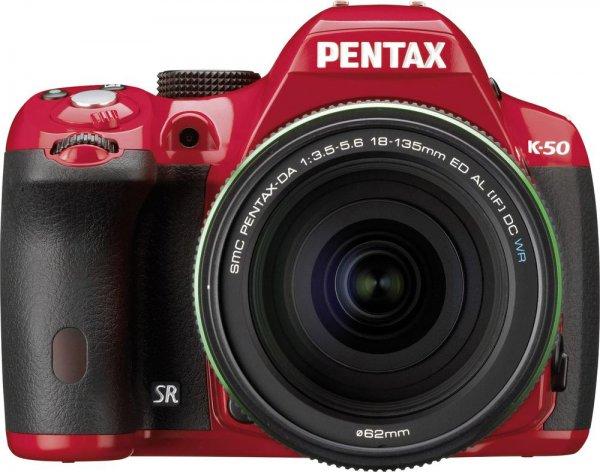 [Conrad] Digitale Spiegelreflexkamera Pentax K-50 inkl.18-135 mm WR 16 Mio. Pixel Rot Full HD Video, Spritzwassergeschützt, Staubgeschützt
